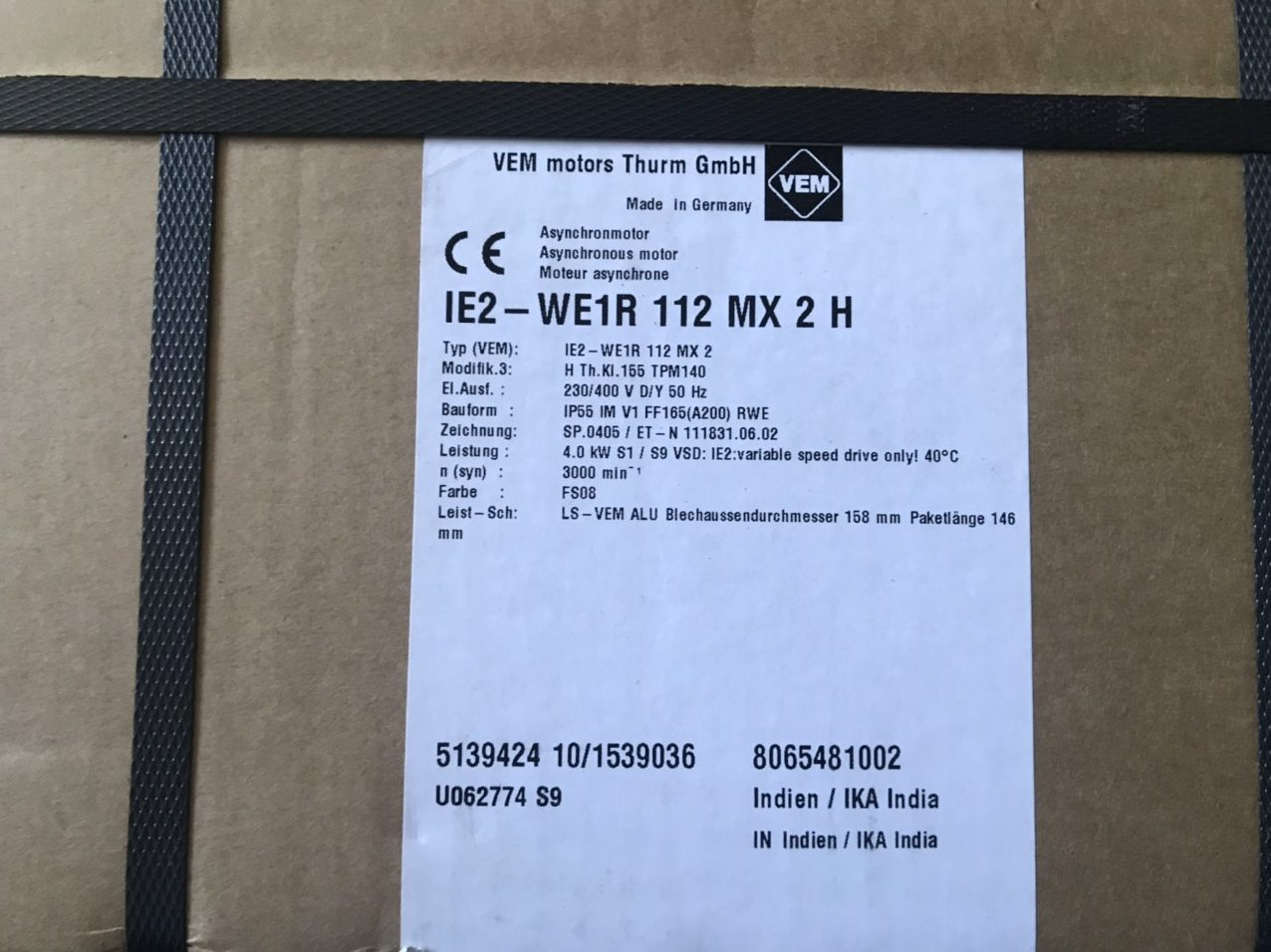 Motor IE2-WE1R 112 MX 2H